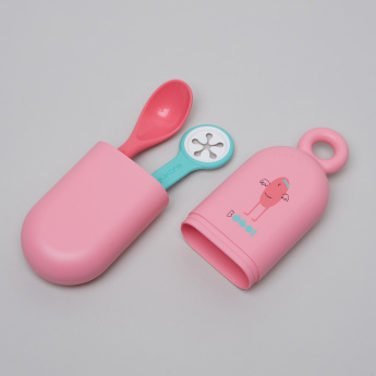 Suavinex Spoon and Bib Clip with Holder