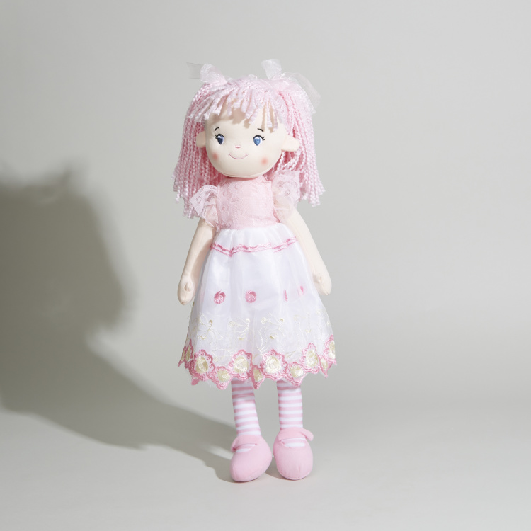 Juniors Rag Doll in Embroidered Skirt