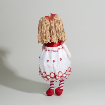 Juniors Rag Doll in Embroidered Dress