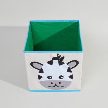 Juniors Zebra Applique Detail Storage Box