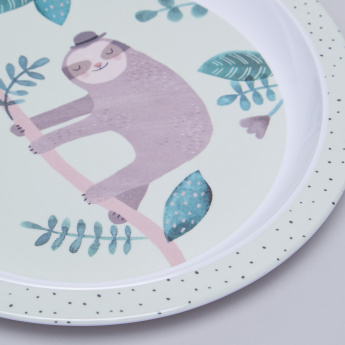 Petit Monkey Sloth Printed Plate