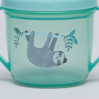 Petit Monkey Sloth Printed Training Cup with Handles