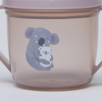 Petit Monkey Koala Printed Training Cup with Handles