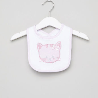 Juniors Cat Embroidered Bib