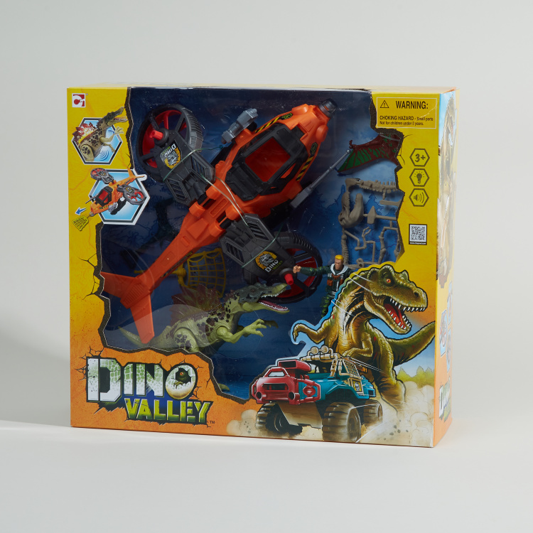 Dino Valley 6-Piece Steelhawk and Dino Playset