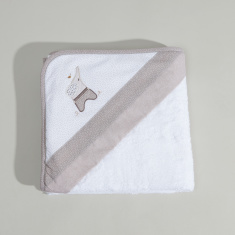 Cambrass Luca Textured Towel with Hood - 80x80 cms