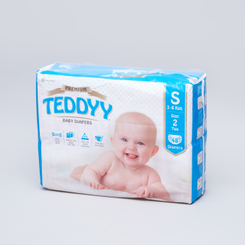 Teddyy Premium Diapers Small - 48 Pieces