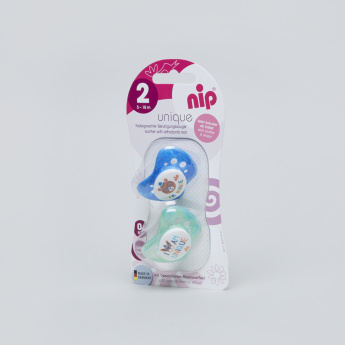 nip Basic Soother with Handle - Set of 2