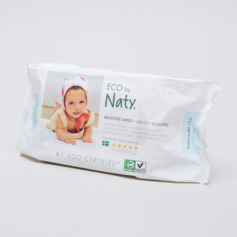 Naty Lightly Scented Wipes - 56 Pieces