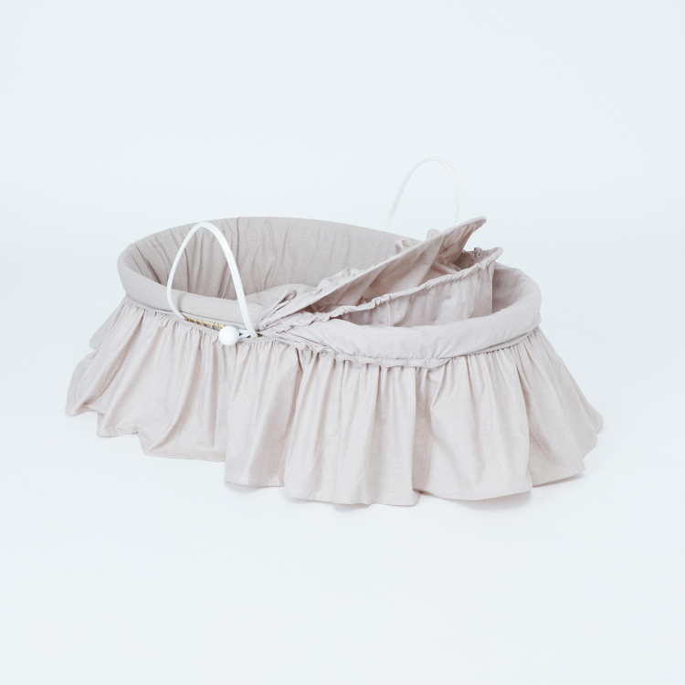 Cambrass Moses Basket with Frill Detail