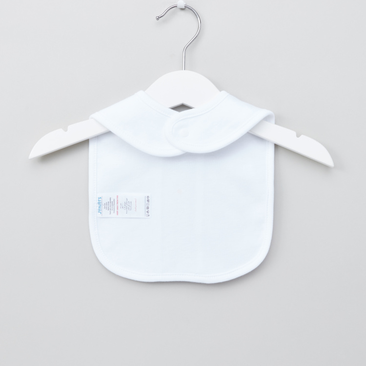 Juniors Striped Bib with Snap Button Closure