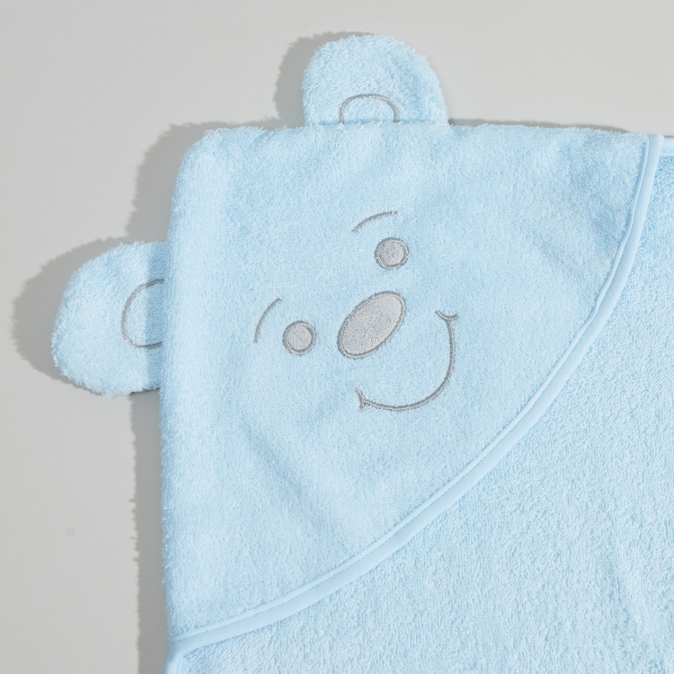 Juniors Bear Hooded Towel - 80x80 cms