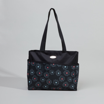 Juniors Floral Printed Diaper Bag with Short Handles