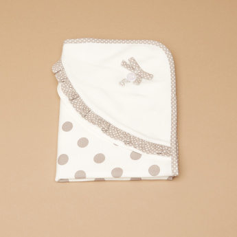 Giggles Polka Dot Printed Receiving Blanket - 70x70 cms