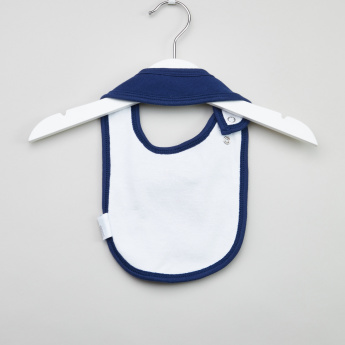 Juniors Bow Applique Detail Bib with Snap Closure