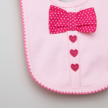 Juniors Bow Applique Bib