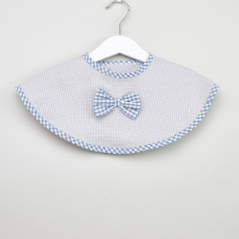Juniors Chequered Bow Detail Bib