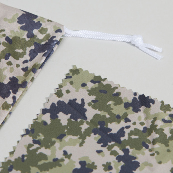 Juniors Camouflage Glasses Pouch with Cleaning Cloth