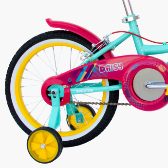SPARTAN Daisy Printed Bicycle with Training Wheels - 16 inches
