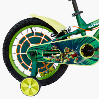 SPARTAN Printed Bicycle with Training Wheels - 16 inches
