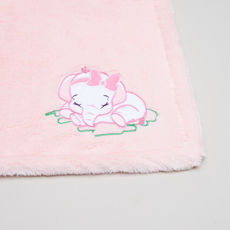 Juniors Sovflat Polyboa Blanket with Applique -76x102 cms