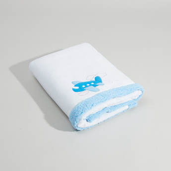 Juniors Embroidered Blanket with Plush Detail - 76x102 cms