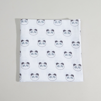 SwaddleDesigns Printed Muslin Blanket - 116x116 cms