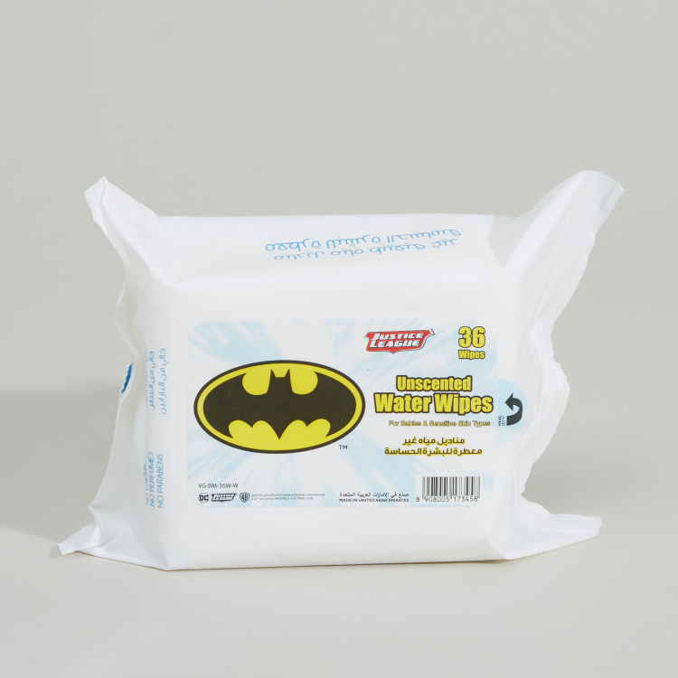 Batman Unscented Water Wipes - 36 Pieces