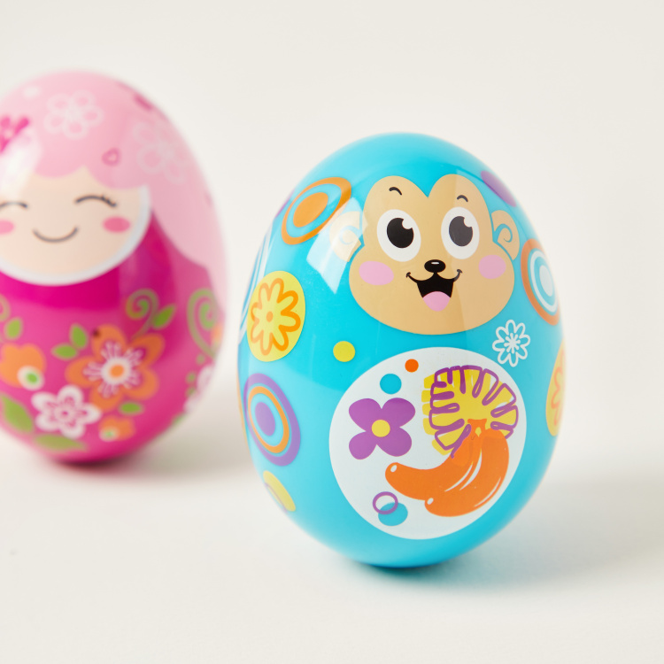 Juniors Egg Shaped Rattle - Set of 2