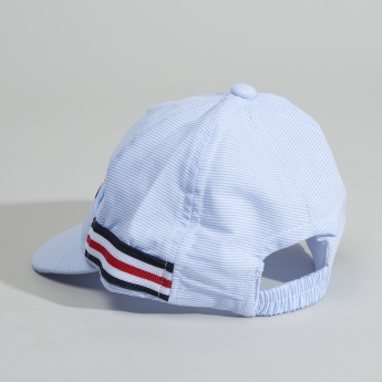 Juniors Striped Cap with Elasticised Strap