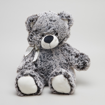Juniors Textured Plush Bear Toy with  Bow Detail