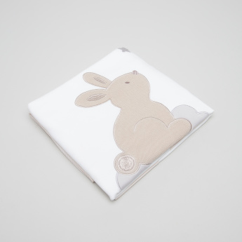 Juniors Bunny Applique Blanket - 100x75 cms