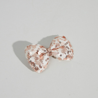 Charmz Hair Clip with Sequinned Bow Detail