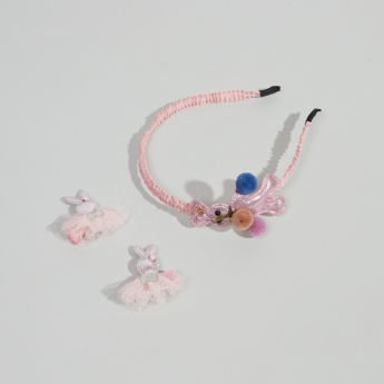 Charmz Applique Detail 3-Piece Hair Accessory Set