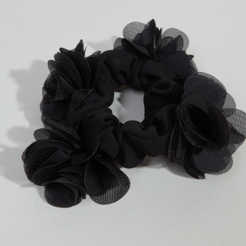 Charmz Floral Applique Detail Hair Tie