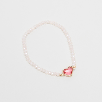 Charmz Beaded Bracelet with Heart Shaped Accent