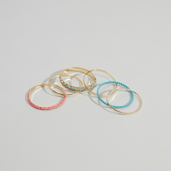 Charmz Metallic Bangle - Set of 6