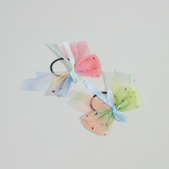 Charmz Bow Detail Hair Tie - Set of 2