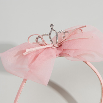 Charmz Embellished Hair Band with Bow Detail