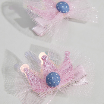 Charmz Embellished Hair Clips with Lace Detail - Set of 2