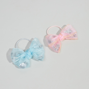 Charmz Hair Tie with Bow Detail - Set of 2