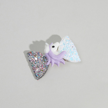 Charmz Bow and Unicorn Detail Hair Clip