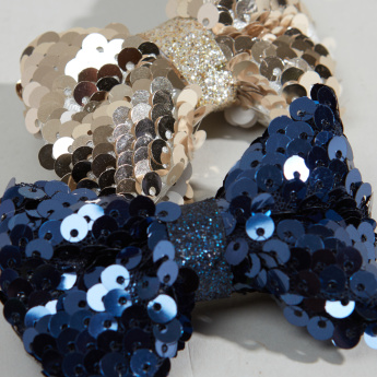 Charmz 2-Piece Duckbill Hair Clip with Sequin Bow Detail