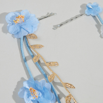 Charmz 2-Piece Bobby Pin with Floral Applique