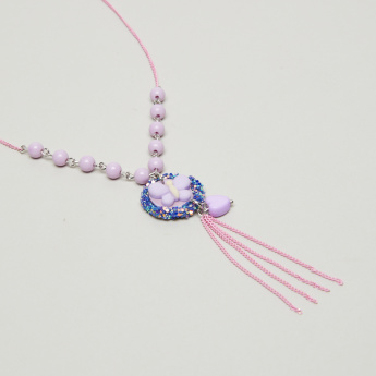 Charmz Pendant Necklace with Beaded Detail and Lobster Clasp