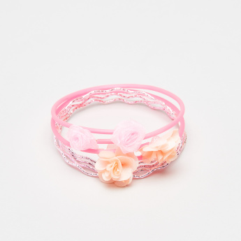 Charmz Floral Detail Bracelet - Set of 6