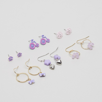 Charmz 6-Piece Embellished Earrings