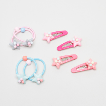 Charmz Star Applique Detail 8-Piece Hair Accessory Set