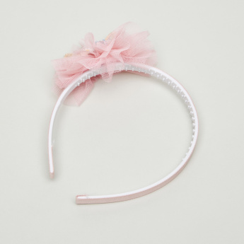 Charmz Mesh and Bow Applique Detail Hair Band