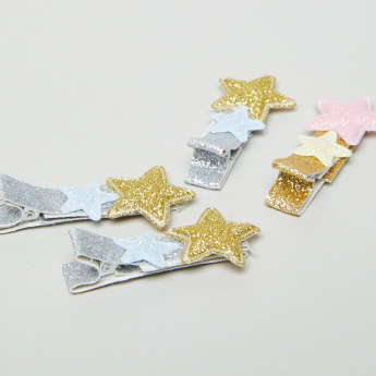 Charmz Star Shape Applique Detail Hairpins - Set of 4